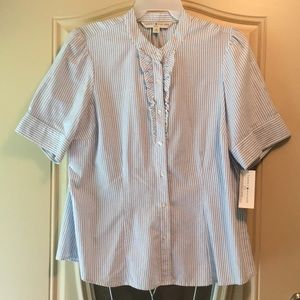 Tommy Hilfiger 16 striped button up blouse NWT